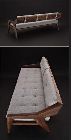 "Jory Brigham Introduces His New ""Emerson"" Sofa – Wooden Sofa Designs Ikea Furniture, Furniture Design, Furniture Stores, Furniture Ideas, Wooden Sofa Set Designs, Wood Sofa, Wooden Couch, Diy Sofa, Deco Design"