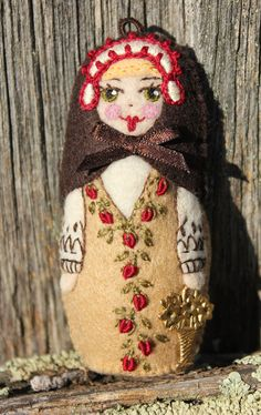 Matryoshka  SIgnature Doll Hand Embroidered by TheSnowQueensGarden, $22.50
