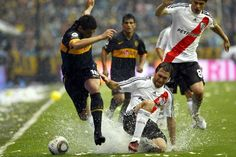 Boca Juniors      River Plate This is a cool shot