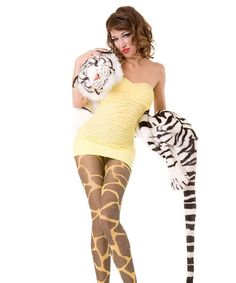 Giraffe de Lux Hotlook Strumpfhose von Straight-Banana auf DaWanda.com