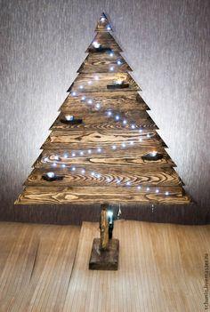 Купить Елка новогодняя - коричневый, интерьерное украшение, новогодний декор, сосна, для интерьера, дерево, елка