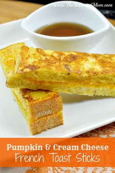 Pumpkin and Cream Cheese French Toast Sticks on MyRecipeMagic.com #french #toast #sticks #pumpkin #creamcheese