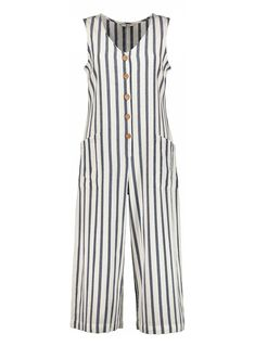 efdb969c73 Womens Online Exclusive Blue   Cream Striped Slouch Jumpsuit