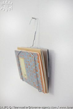 make a magazine rack with recycled wire hanger // roomservice