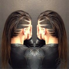 Trendy hair tattoos and designs! Images and Video tutorials!