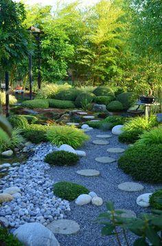 © Le Jardin Keriel Which tree species are cut as a garden bonsai trees? Gravel Garden, Garden Landscaping, Garden Path, Shade Garden, Beach Gardens, Outdoor Gardens, Home Design, Bonsai Garden, Bonsai Trees