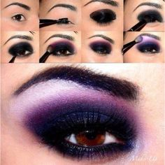 Dramatic eye - reminds me of the Mac version of the Maleficent look...