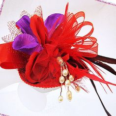 Red Hat Ladies | Ladies FASCINATOR-Victorian Tea ..