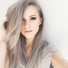 Pretty grey hair extensions