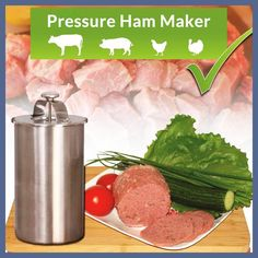 Ham Maker - Stainless Steel Meat Press for Making Healthy Homemade Deli Meat Tool with a Thermometer