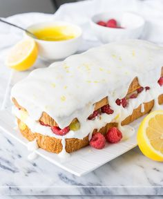 Lemon Raspberry Stuffed Pound Cake   19 Lemon-Flavored Desserts That Are Perfect For Summer