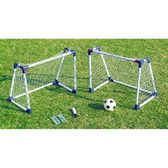 This 2 Junior Football Goal set will have your kids playing no matter what the weather conditions as it is suitable for indoor and outdoor use.