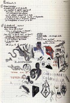 """""""Cahiers des charges"""" for Life: A User's Manual by Georges Perec, 1972.  From Belles Lettres: Manuscripts Of The Masters Of French Literature, Roselyne de Ayala and Jean-Pierre Guéno."""