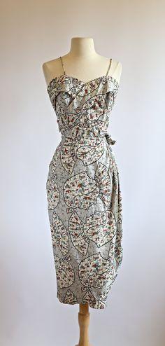 1940s Rayon Hawaiian Dress  Vintage 1940s by xtabayvintage on Etsy