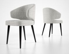 3d minotti aston dining chair