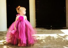 I can't decide on this long tutu dress or a short tutu for flower girls!