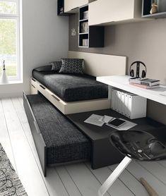 Las camas extraíbles son muy útiles para aprovechar el espacio en habitaciones de más de 1 o tener cama de reserva para visitas inesperadas. #habitacionadolescentes