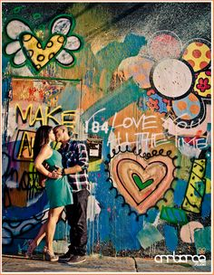Engagement shoot at the Wynwood Walls in Downtown Miami