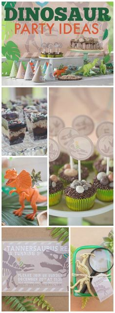 How cool is this dinosaur party with an egg hunt and dino dig! See more party ideas at CatchMyParty.com!