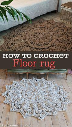 Crochet Rug Patterns, Crochet Rugs, Crochet Dishcloths, Cute Crochet, Crochet Motif, Beautiful Crochet, Crotchet, Crochet Designs, Knitting Patterns