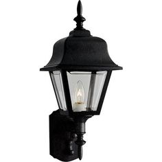 Progress Lighting Black Traditional Post Light at Lowe's. Non-metallic post lantern with clear, beveled acrylic panels in a black finish. Porch Lighting, Exterior Lighting, Outdoor Lighting, Outdoor Post Lights, Outdoor Wall Lantern, Antique Lanterns, Lantern Post, Acrylic Panels, Progress Lighting