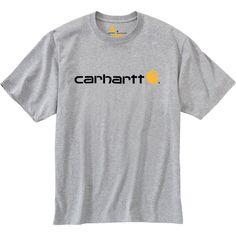 Carhartt Men's Logo T-Shirt, Size: Medium, Gray