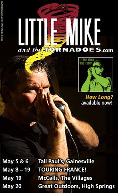 Little Mike and the Tornadoes - Taking the #Blues Storm to Europe in May. http://jazz-bluesflorida.blogspot.com/2017/05/little-mike-tornadoes-taking-blues.html