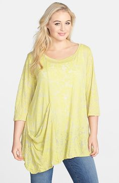 Chalet 'Ona' Asymmetrical Burnout Jersey Tunic Top (Plus Size) available at #Nordstrom