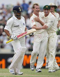 Sachin Tendulkar fell to Brett Lee for 13, Australia v India, 3rd Test, Perth, 3rd day, January 18, 2008  2ooth.in