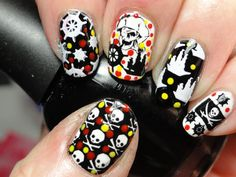 """""""Pirates Of The Caribian"""" Stamping Nail Art Manicure  By Cheeky Using CH49 Stamping Plate, Available On: www.cheeky-beauty.com"""
