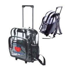 Clear Backpack...This clear security backpack features a large ...