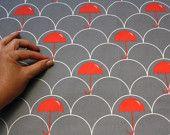 "Home fabric Cotton Linen Canvas-  ""Mustard Moustache"" (Fat Quarter) ships in a week. $12.00, via Etsy."