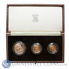 Buy 1983 United Kingdom Proof Gold Sovereign Set at Gainesville Coins. Set contains oz of pure gold. Kingdom 3, United Kingdom, Gold Sovereign, St George's, Gold And Silver Coins, Gold Bullion, Great Britain, Pure Products, Happy