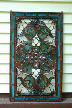 20 X 34 Large Tiffany Style Stained Gl Window Panel Ebay