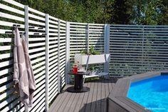 Koti Aurorassa: uimaallas ja terassi. #uimaallas #terassi #piha #patio #pool #kannustalo