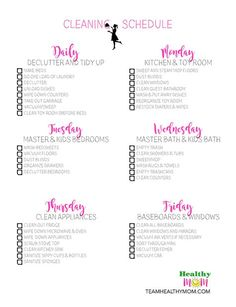 Get your FREE printable (customizable) daily house cleaning download! This is a great way to stay on top of house cleaning. It's always a good idea to start a good cleaning routine with a daily cleaning schedule with a cleaning checklist.