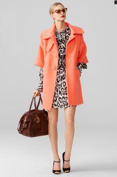 peach coat #milly #fall2011