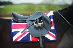 John Whitaker - Union Jack Saddle Pad Fully padded saddle pad with Union Jack design Colour Union Jack Size