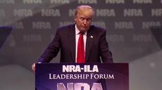 """Dubbing her """"Heartless Hillary"""" Clinton, Trump cast the 2016 election in stark terms as a contest with long-lasting implications for gun enthusiasts nationwide."""