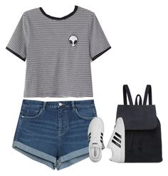 """""""Untitled #9014"""" by fanny483 ❤ liked on Polyvore featuring WithChic, Zara and adidas"""