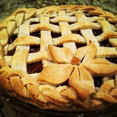 Apple pie crust design! Easy peasy