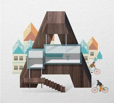 Resort Type Illustrations by Jing Zhang