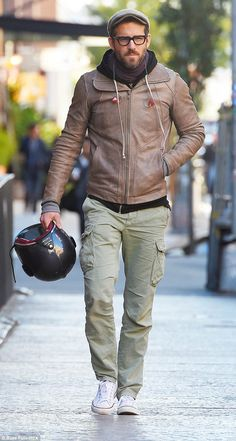 Down day: Ryan Reynolds worked a dapper off-duty look when he stepped out in Soho, New York on Monday