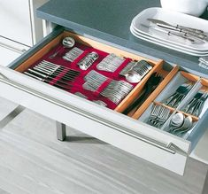 No need to hide away the good flatware.  Practical Kitchen Drawer Organization