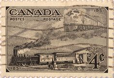 Canada Railways, 1851-1951, SC#311 - 1951 - Stamp Centenary - Trains of 1851 & 1951