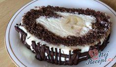 Roláda s mascarpone a banánem | NejRecept.cz Mascarpone Creme, Kakao, Tiramisu, Sweet Tooth, Food And Drink, Pie, Cooking Recipes, Sweets, Ethnic Recipes