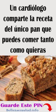 Картинки по запросу el único pan que puedes comer tanto como quieras: recetas Keto Recipes, Cooking Recipes, Healthy Recipes, Pan Dulce, Pan Bread, Sin Gluten, Healthy Desserts, Bakery, Good Food