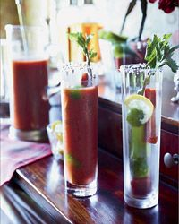 Hellfire Club Bloody Mary | Black pepper, Tabasco and fresh chile give this delicious Bloody Mary a fiery kick.