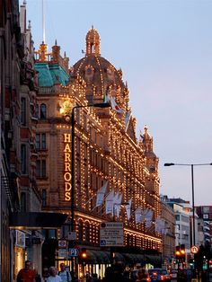 Harrods' Food Halls Located right outside the Knightsbridge tube station, Harrods has long been a bastion of style and taste in London.  It's a destination for fashionistas and the wealthy, as well as tourists who stop in to gawk.  It is also the 2nd most visited place in London.