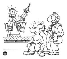 man vs machinery Working Man, Man Vs, Peanuts Comics, Men, Guys